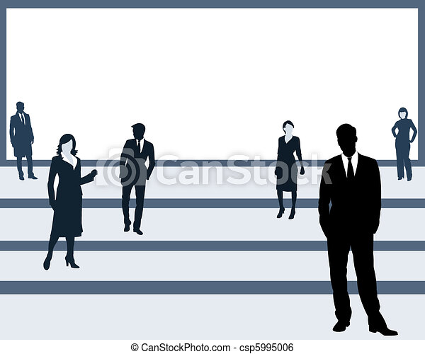 The people on a platform - csp5995006