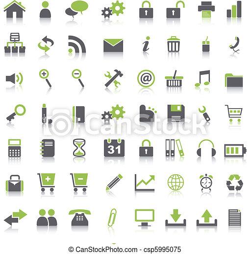 Many green icons - csp5995075