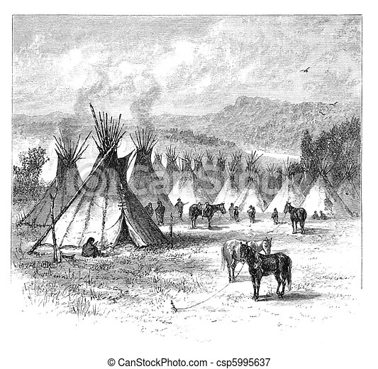 Native American Village - csp5995637