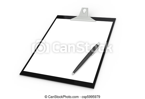 Clipboard with Pen - csp5995979
