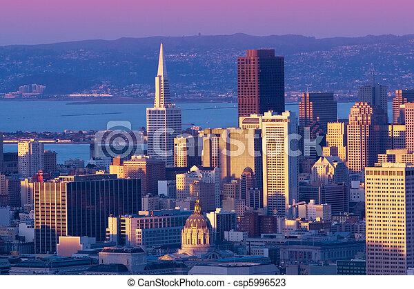 Downtown San Francisco cityscape - csp5996523