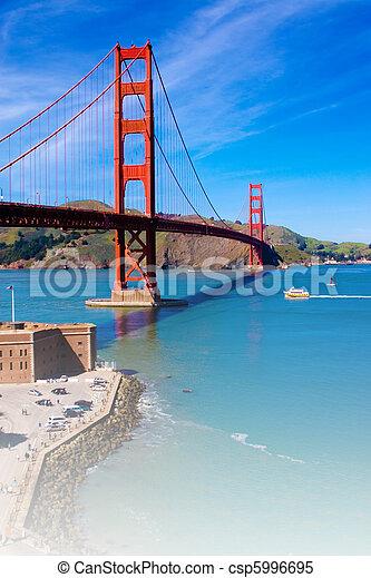Golden Gate Bridge, San Francisco, California, USA - csp5996695
