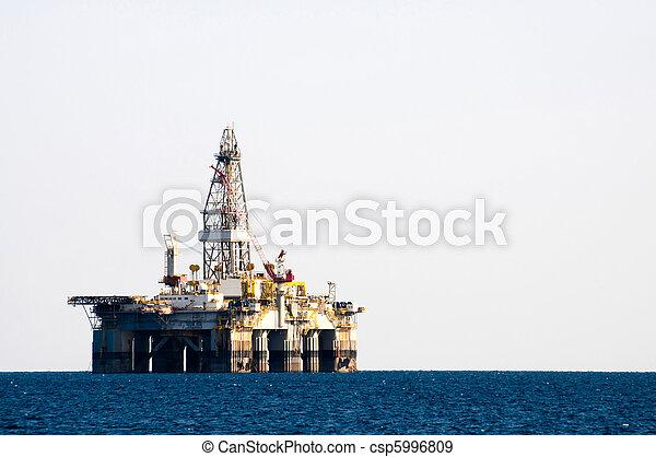 Sea Oil Rig Drilling Platform - csp5996809