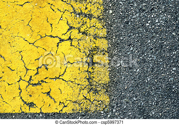 Abstract background of old paint on asphalt road - csp5997371
