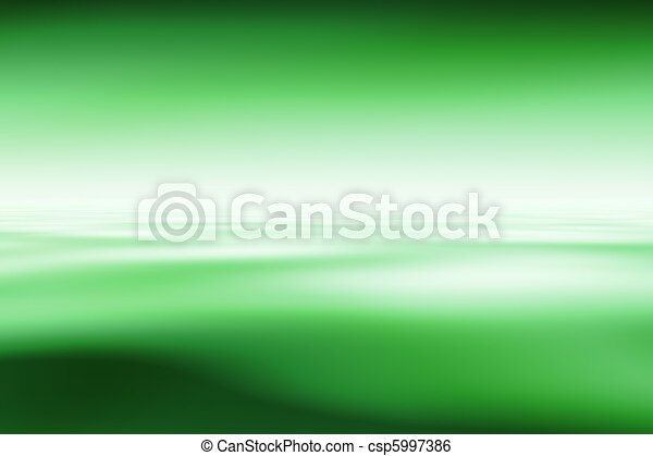 Abstract green background, computer graphics - csp5997386