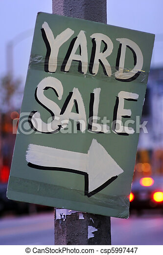 Handmade Yard Sale Sign - csp5997447
