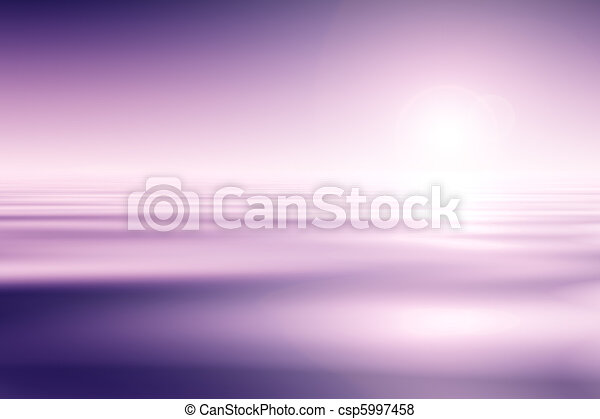 Beautiful Pink Water And Sky Background - csp5997458