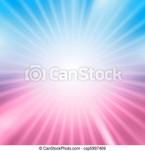 Light burst over blue and pink background - csp5997469