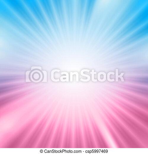 Light burst over blue and pink background - csp5997469