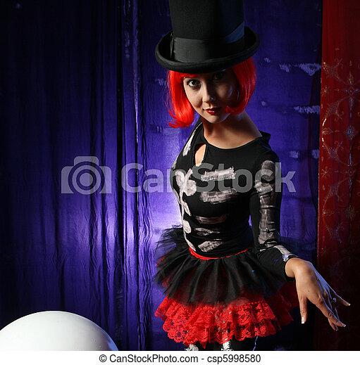 Beautiful redhead performer - csp5998580