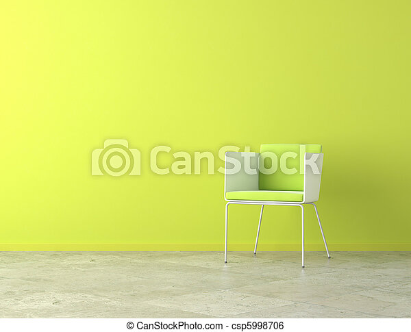 green interior copy space - csp5998706