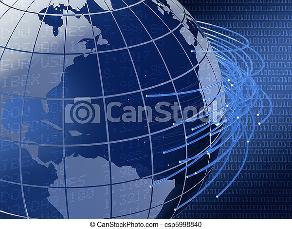 global telecommunications background design - csp5998840