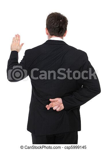 Business Man Liar - csp5999145