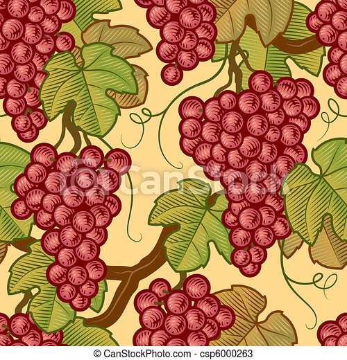Seamless grapes background - csp6000263