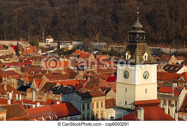 Brasov, Council Square tower, Romania - csp6000291