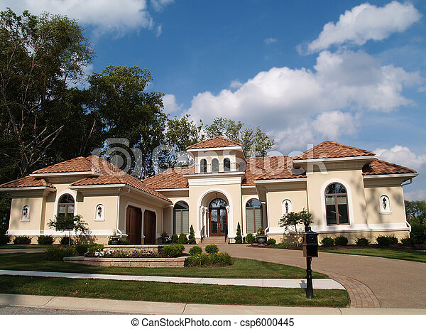 One Story Stucco Residential Home  - csp6000445