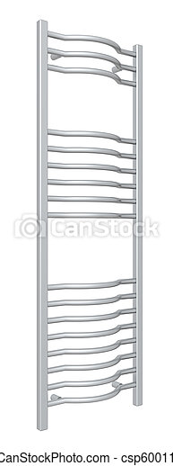 Standing chrome towel holder rack and rails - csp6001133