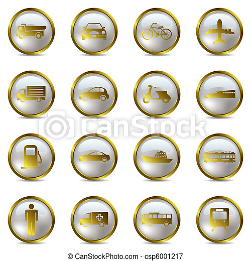 Transportation icons set - csp6001217