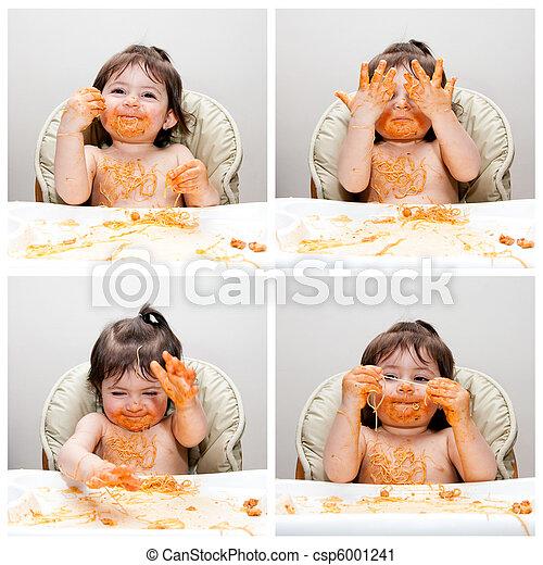 Happy baby funny messy eater - csp6001241