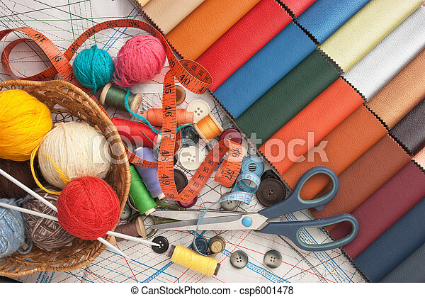 still life of spools of thread - csp6001478