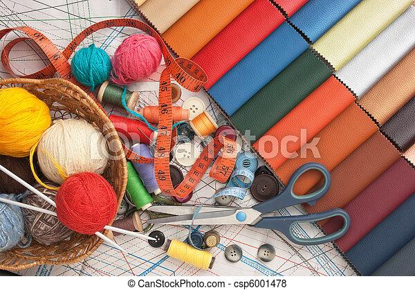still life of spools of thread - csp6001478