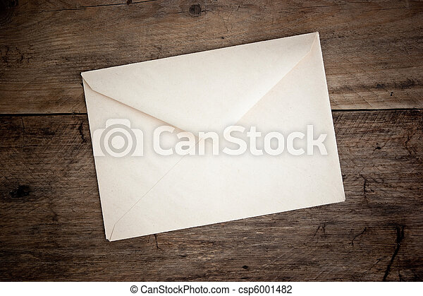 old postal envelope - csp6001482
