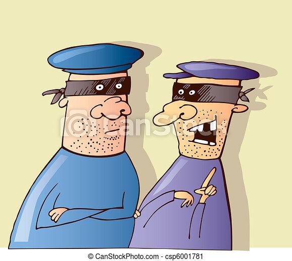 Resultado de imagem para cartoons de ladroes
