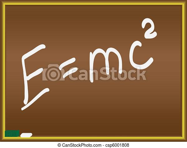 Einstein formula on a chalkboard - csp6001808
