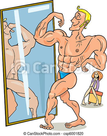 Muscular man and the mirror - csp6001820