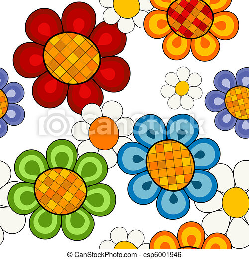 Effortless vivid floral pattern - csp6001946