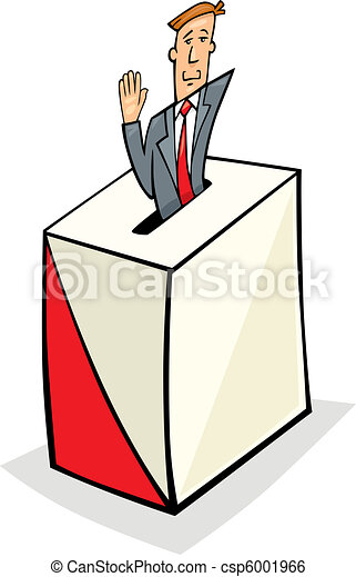 Man in Ballot Box - csp6001966