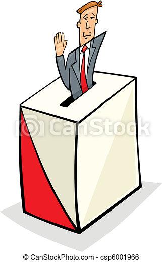 Man in Ballot Box - csp6001966