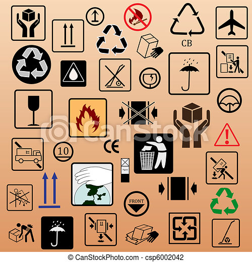Set of packing symbols - csp6002042