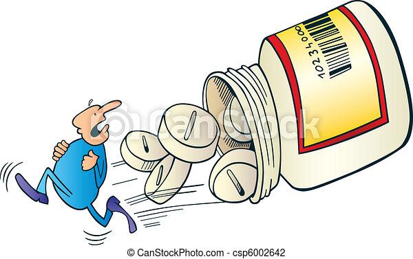 Man run away before pills - csp6002642
