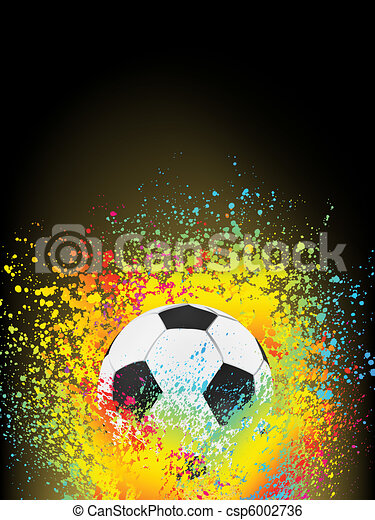 Abstract background with a soccer ball. EPS 8 - csp6002736