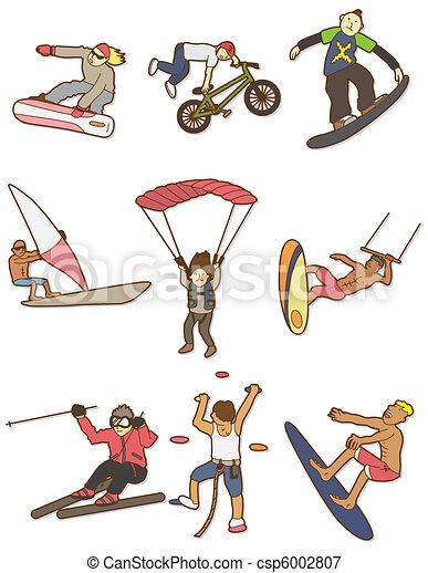 cartoon Extreme sport icon - csp6002807