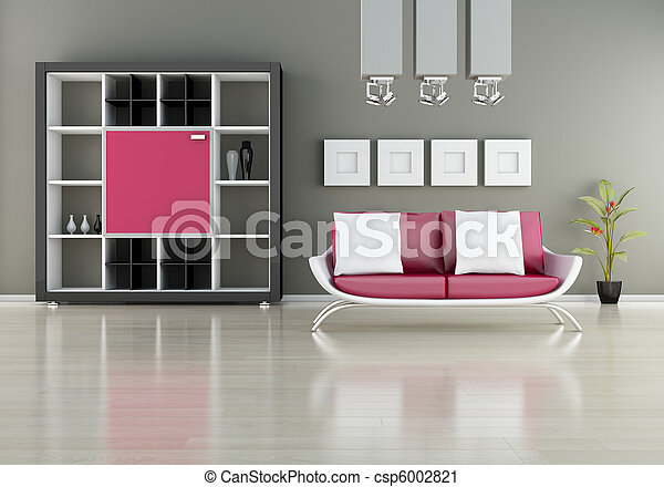 Sofa with bookshelf - csp6002821