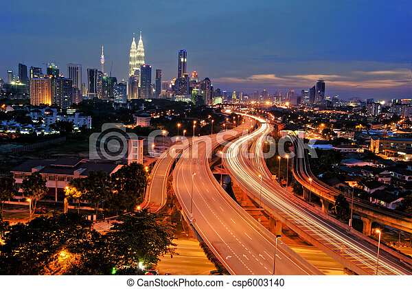 Kuala Lumpur is the capital city of Malaysia.  - csp6003140