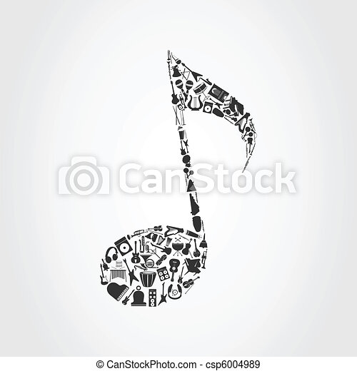 Musical note - csp6004989