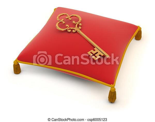 zeichnungen von schl ssel auf a kissen schl ssel liegen auf a csp6005123 suchen. Black Bedroom Furniture Sets. Home Design Ideas