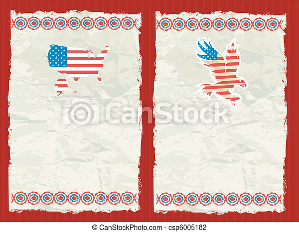 USA textured backgrounds - csp6005182