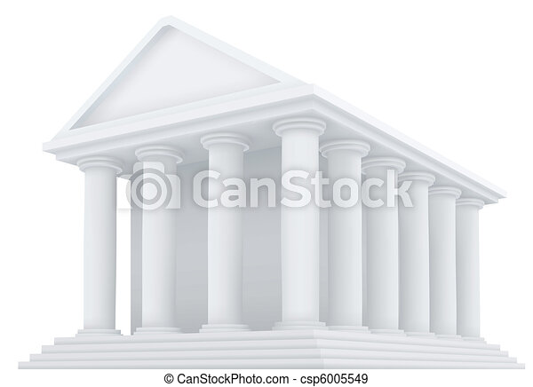vector ancient building - csp6005549