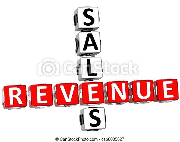 Sales Revenue Crossword - csp6005627