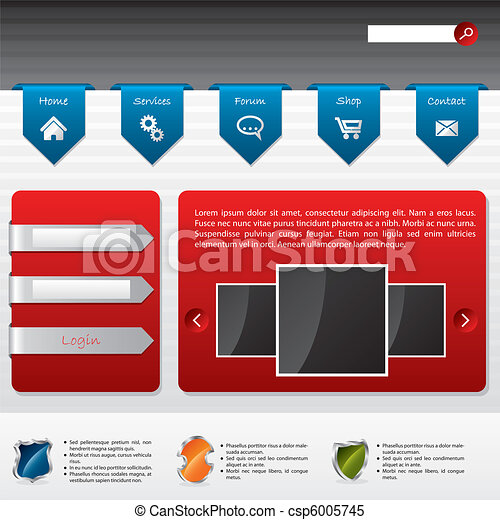 Advertising website design with user login - csp6005745