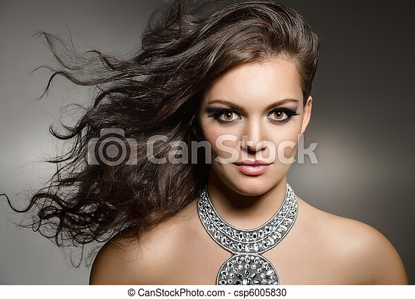 gorgeous brunette - csp6005830