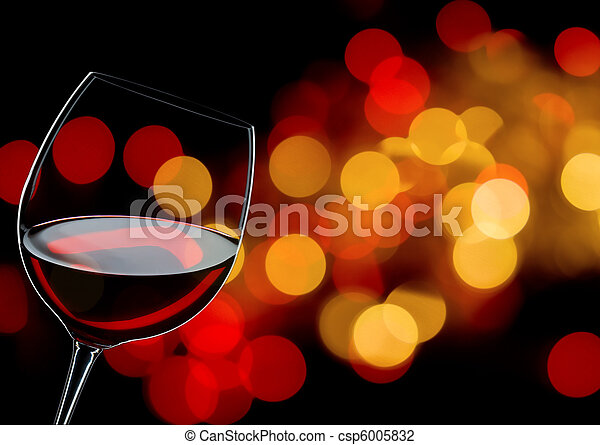 glass of red wine - csp6005832