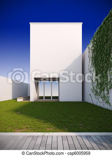 Modern house in minimalist style. - csp6005959