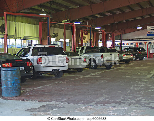 Auto Repair Bays in a Service Garag