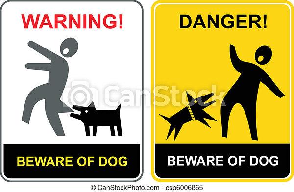 Danger! Beware of dog! - csp6006865