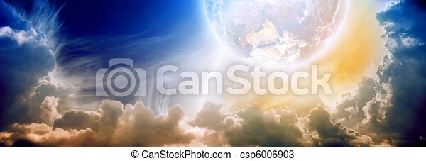Fantastic sunset - csp6006903